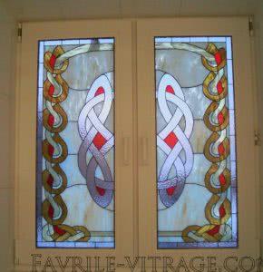 Металлопластиковое окно с витражем