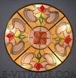 Эскизы витражей светильник декорированный витражом