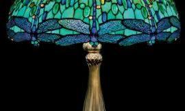 Лампа с элементами витража